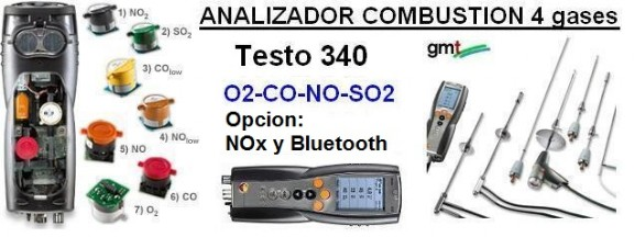 analizador gases combustion industriales testo 340 alquiler gimateg