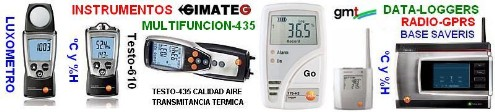 medidores aire ambiente dataloger GimateG