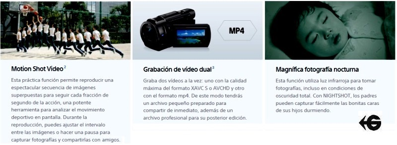 camara video graba HD y 4K sony alquiler gimateg