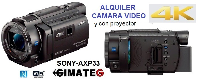 alquiler camara video 4k y alta resolucion de GimateG